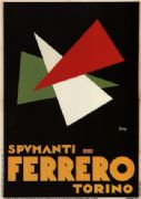 Spumanti Ferrero Torino. Vintage Italian Advertisement Poster.